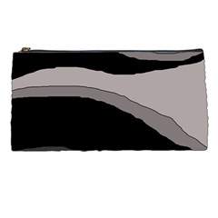 Black And Gray Design Pencil Cases by Valentinaart