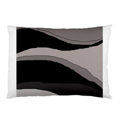 Black And Gray Design Pillow Case (two Sides) by Valentinaart
