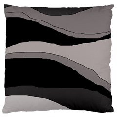 Black And Gray Design Large Flano Cushion Case (one Side) by Valentinaart