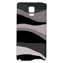 Black And Gray Design Galaxy Note 4 Back Case by Valentinaart
