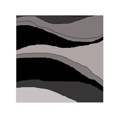 Black And Gray Design Small Satin Scarf (square) by Valentinaart