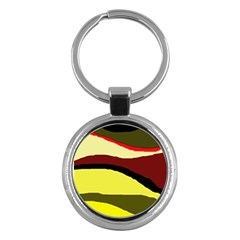 Decorative Abstract Design Key Chains (round)  by Valentinaart