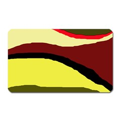 Decorative Abstract Design Magnet (rectangular) by Valentinaart