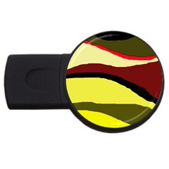 Decorative Abstract Design Usb Flash Drive Round (2 Gb)  by Valentinaart