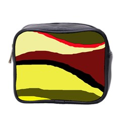 Decorative Abstract Design Mini Toiletries Bag 2 Side by Valentinaart