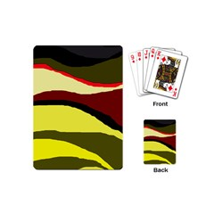 Decorative Abstract Design Playing Cards (mini)  by Valentinaart