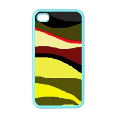Decorative Abstract Design Apple Iphone 4 Case (color) by Valentinaart