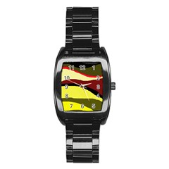 Decorative Abstract Design Stainless Steel Barrel Watch by Valentinaart