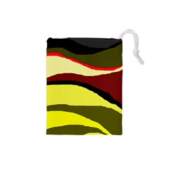 Decorative Abstract Design Drawstring Pouches (small)  by Valentinaart