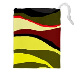 Decorative Abstract Design Drawstring Pouches (xxl) by Valentinaart