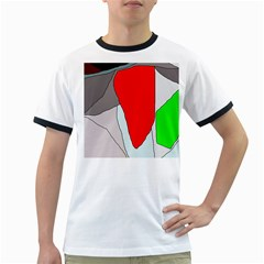 Colorful Abstraction Ringer T Shirts by Valentinaart