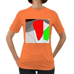 Colorful Abstraction Women s Dark T-shirt by Valentinaart