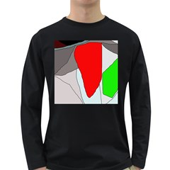 Colorful Abstraction Long Sleeve Dark T Shirts by Valentinaart