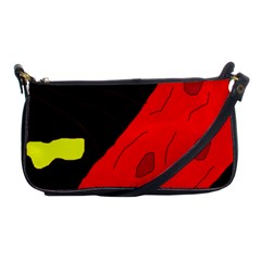 Red Abstraction Shoulder Clutch Bags by Valentinaart