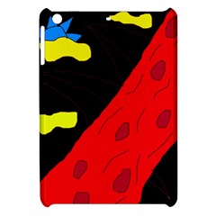 Red Abstraction Apple Ipad Mini Hardshell Case by Valentinaart