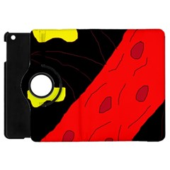 Red Abstraction Apple Ipad Mini Flip 360 Case
