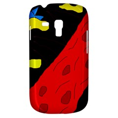 Red Abstraction Samsung Galaxy S3 Mini I8190 Hardshell Case by Valentinaart