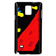 Red Abstraction Samsung Galaxy Note 4 Case (black) by Valentinaart