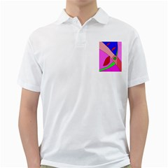Pink Abstraction Golf Shirts by Valentinaart
