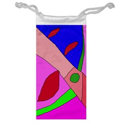 Pink Abstraction Jewelry Bags by Valentinaart