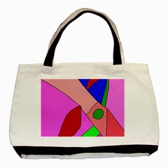 Pink Abstraction Basic Tote Bag by Valentinaart