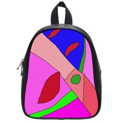 Pink Abstraction School Bags (small)  by Valentinaart
