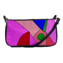 Pink Abstraction Shoulder Clutch Bags by Valentinaart