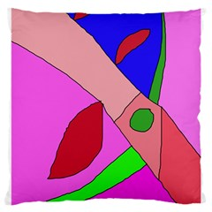 Pink Abstraction Large Cushion Case (one Side) by Valentinaart