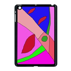 Pink Abstraction Apple Ipad Mini Case (black) by Valentinaart