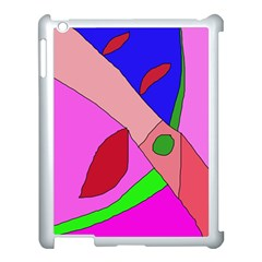 Pink Abstraction Apple Ipad 3/4 Case (white) by Valentinaart