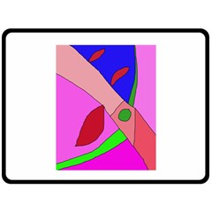 Pink Abstraction Double Sided Fleece Blanket (large)  by Valentinaart