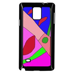 Pink Abstraction Samsung Galaxy Note 4 Case (black) by Valentinaart