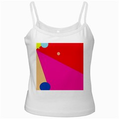 Colorful Abstraction White Spaghetti Tank by Valentinaart