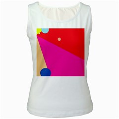 Colorful Abstraction Women s White Tank Top by Valentinaart