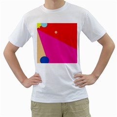 Colorful Abstraction Men s T Shirt (white) (two Sided) by Valentinaart