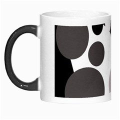Gray, Yellow And Pink Dots Morph Mugs