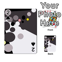 Gray, Yellow And Pink Dots Playing Cards 54 Designs  by Valentinaart