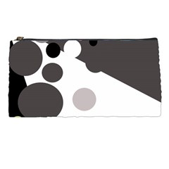 Gray, Yellow And Pink Dots Pencil Cases by Valentinaart
