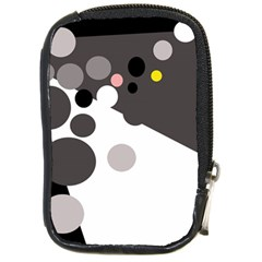 Gray, Yellow And Pink Dots Compact Camera Cases by Valentinaart