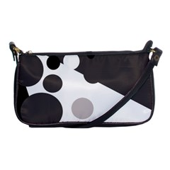 Gray, Yellow And Pink Dots Shoulder Clutch Bags by Valentinaart