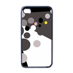 Gray, Yellow And Pink Dots Apple Iphone 4 Case (black) by Valentinaart