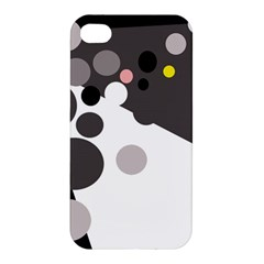 Gray, Yellow And Pink Dots Apple Iphone 4/4s Premium Hardshell Case by Valentinaart