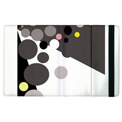 Gray, Yellow And Pink Dots Apple Ipad 2 Flip Case by Valentinaart
