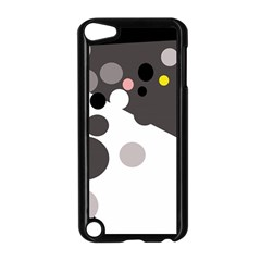 Gray, Yellow And Pink Dots Apple Ipod Touch 5 Case (black) by Valentinaart