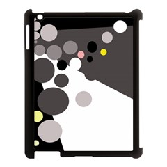 Gray, Yellow And Pink Dots Apple Ipad 3/4 Case (black) by Valentinaart