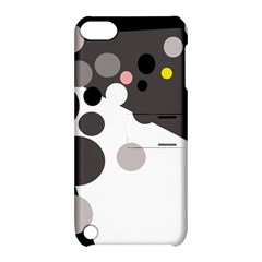 Gray, Yellow And Pink Dots Apple Ipod Touch 5 Hardshell Case With Stand