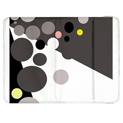 Gray, Yellow And Pink Dots Samsung Galaxy Tab 7  P1000 Flip Case by Valentinaart