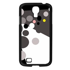 Gray, Yellow And Pink Dots Samsung Galaxy S4 I9500/ I9505 Case (black) by Valentinaart