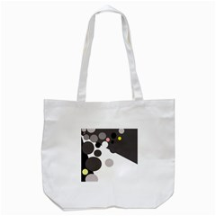Gray, Yellow And Pink Dots Tote Bag (white) by Valentinaart