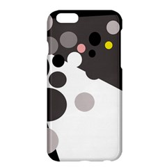 Gray, Yellow And Pink Dots Apple Iphone 6 Plus/6s Plus Hardshell Case by Valentinaart